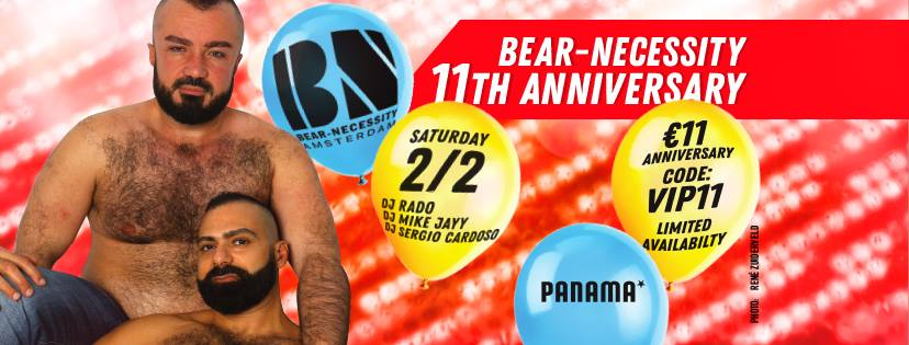 Bear Necessity 11th Anniversary Gay Bear Dance Party Amsterdam