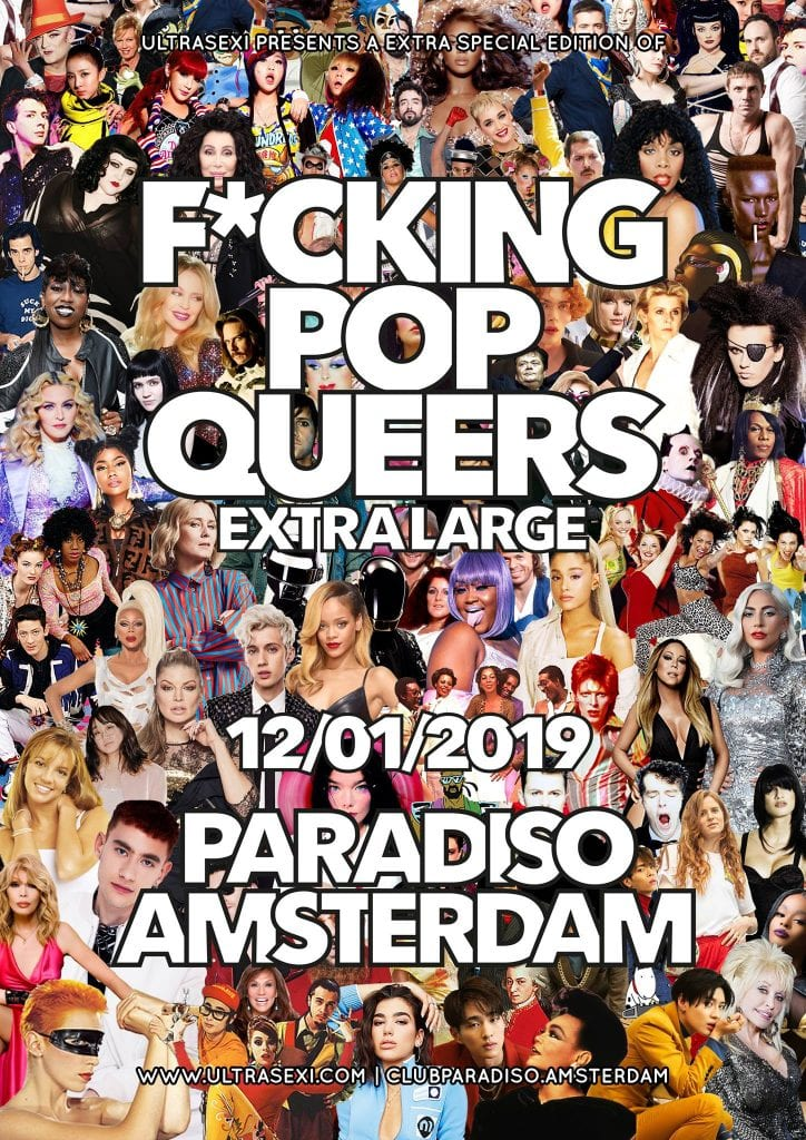 F*cking Pop Queers XL - Paradiso Amsterdam - Queer Gay Dance Party