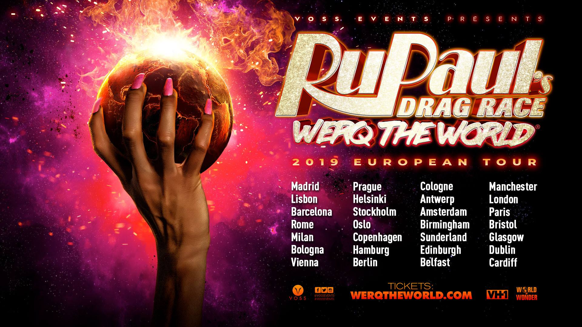 Werq The World Tour 2019 RuPaul's Drag Race Dragqueen Event Amsterdam