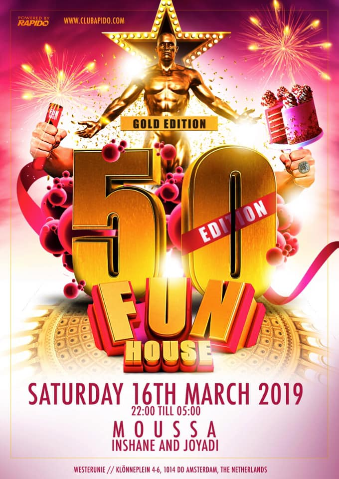 Funhouse 50th Edition Gay Circuit Party Amsterdam