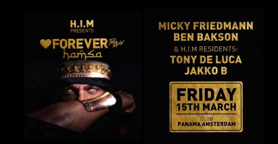 H.I.M Amsterdam: FOREVER TLV *Hamsa* Gay Circuit Party