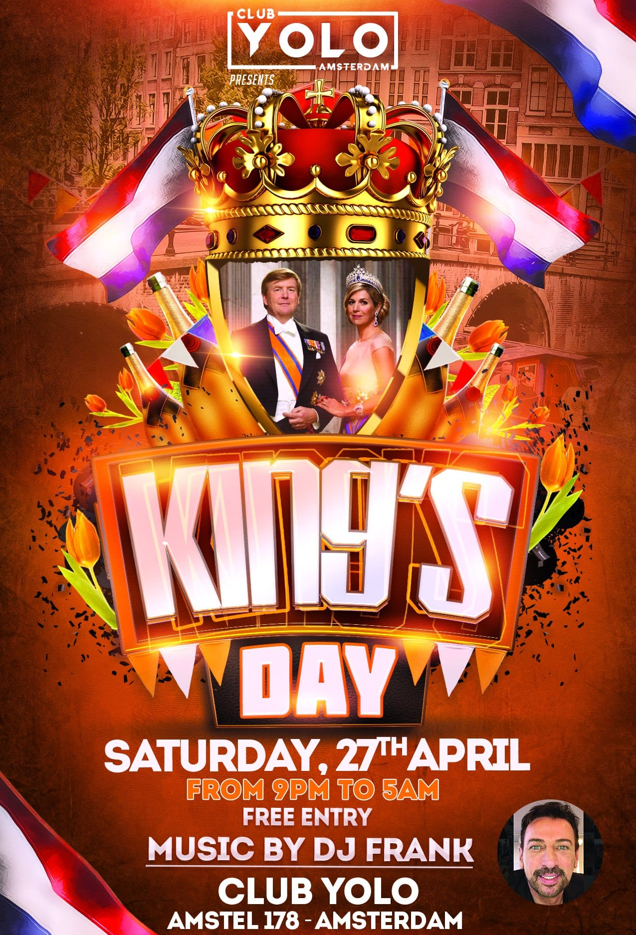 King's Day at Club YOLO Amsterdam Gay Dance Party