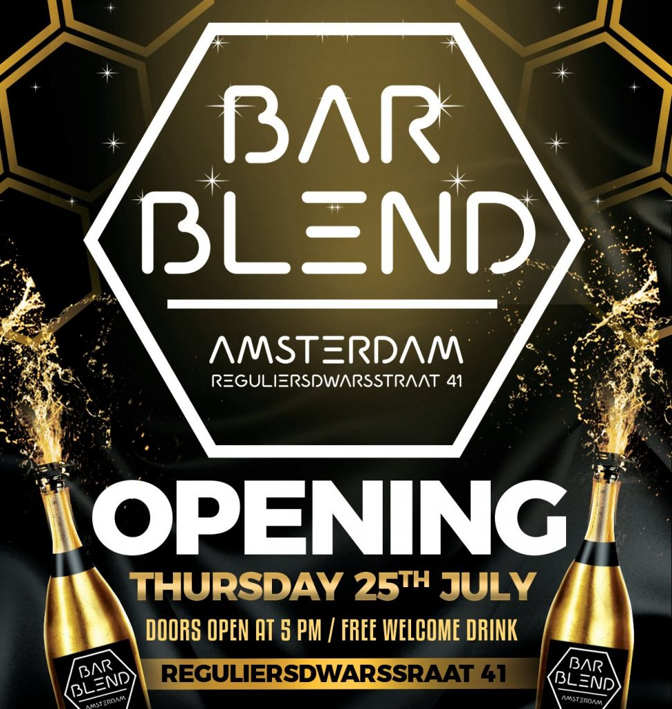 Bar Blend Grand Opening of a new Amsterdam gay bar