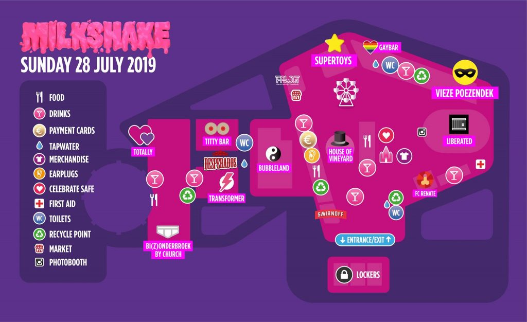 Milkshake Festival Amsterdam Sunday 28th July 2019 Festival Map
