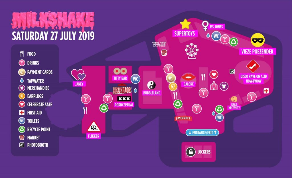 Milkshake Festival Amsterdam Saturday 27th July 2019 Festival Map