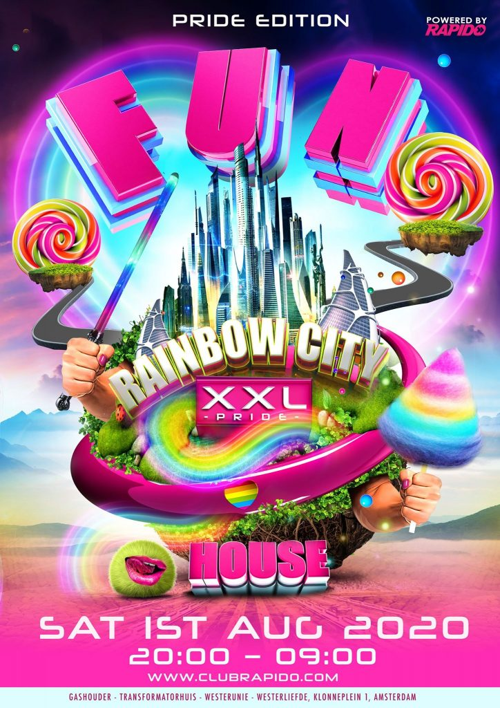 FunHouse XXL - the Pride edition 2020 - Amsterdam Gay Pride Circuit House Party