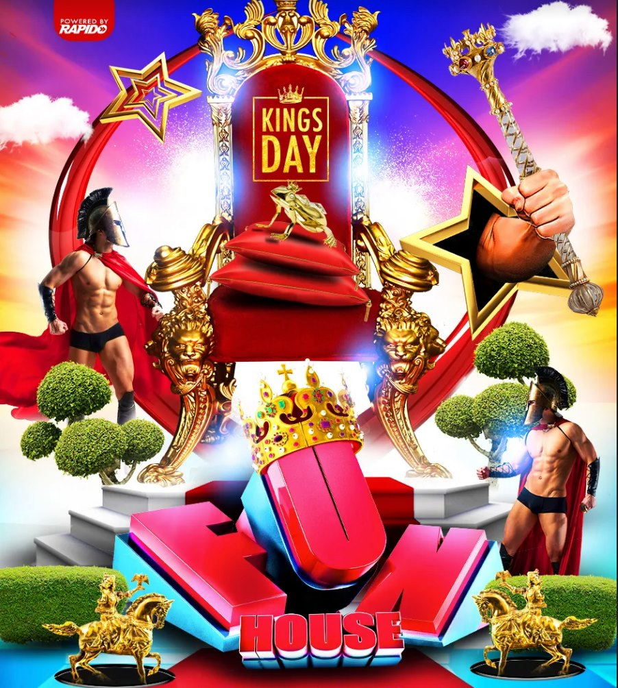 FunHouse - Kings & Queens edition - King's Day 2020 Gay Circuit House Party