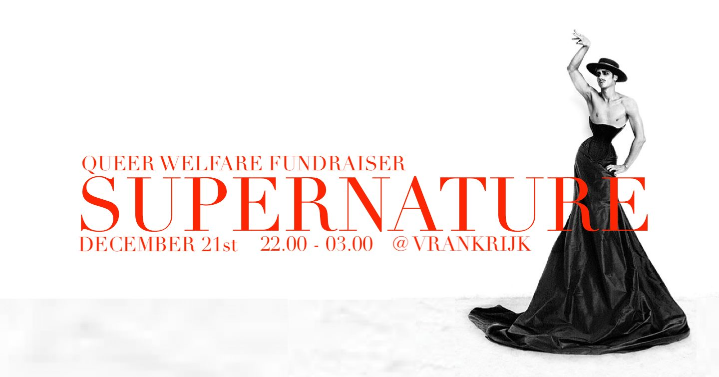 Supernature at Vrankrijk Queer Benefit Fundraiser Party