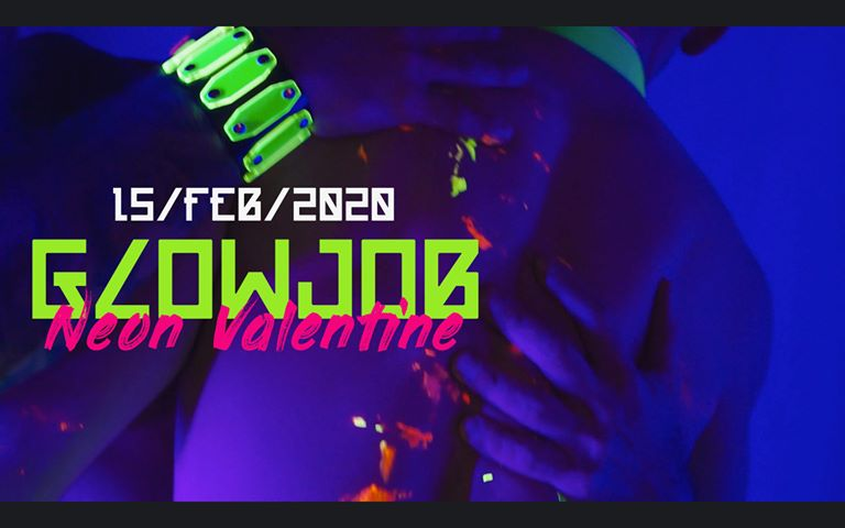 Glow Job - Neon Valentine - VLLA Amsterdam - Gay Valentine's Day Dance Party