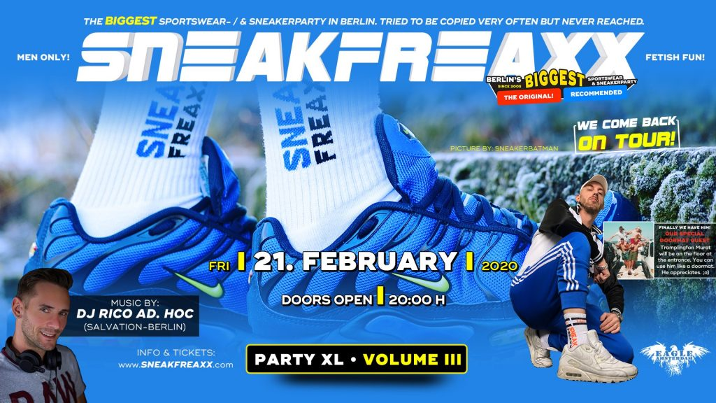 Sneakfreaxx XL #3 on tour - Gay Cruising Sportwear Dance Party - Eagle Amsterdam